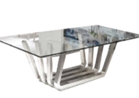 sorento Stainless Steel Modern dining table