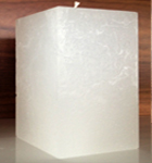 Rustique Squre Candle in White