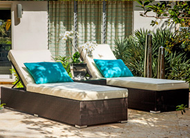 stasi modern outdoor patio chaise lounger esprssso