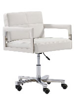 Stio office chair in white leatherette