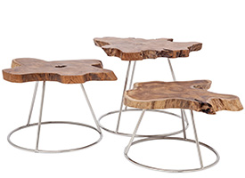 Driftwood Todi Modern coffee table and side table