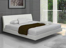 Tolento bed in white Leatherette