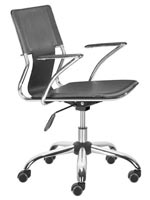 Traffico Modern Office chair in black leatherette