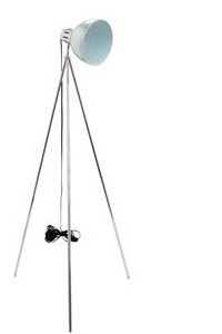 Tripod Modern Floor Lamp Chrome