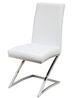 turin Modern dining chair in white
