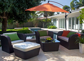 vallada outdoor set in espresso. Modern outdoor set