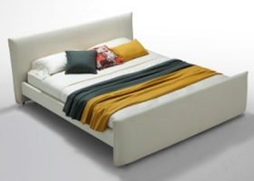 Verona bed in White leatherette