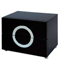 Versaille nighstand in black lacquer