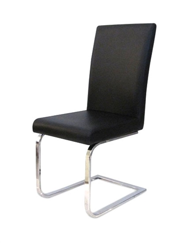 Orense Dining Chair in soft black or white leatherette will provide an elegant and comfortable solution to your dining set.