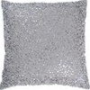 Glamour Decorative Pillow Silver beaded