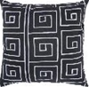 "Laberinth Decorative Black and WhitePillow 18"" x 18"""