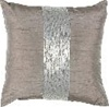 One Way Sequin Decorative Pillow Silver