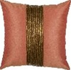 One Way Sequin Decorative Pillow Copper