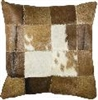 Square Cowboy Cowhide Leather Decorative Pillow