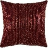 Red Cosmopolitan Sequin Decorative Pillow