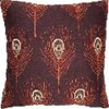 Feathers Embroidered Decorative Pillow
