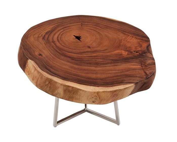 Teak Wood Slab Coffee Table: Verona Teak Root Slab Modern Tables