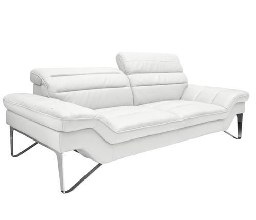 Sofas - Milano Modern Sofa Set in White Leather - mh2g