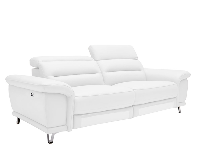 Lorenzo Modern Double Recliner Leather Sofa